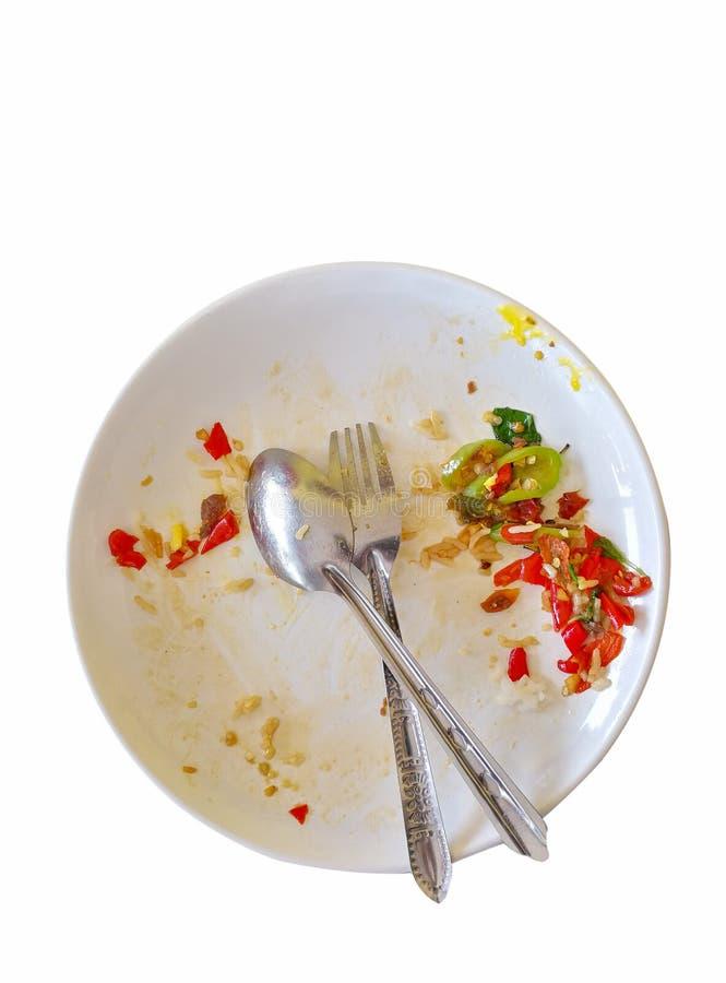 Απορρίματα που αφήνονται από την κατανάλωση στοκ φωτογραφία