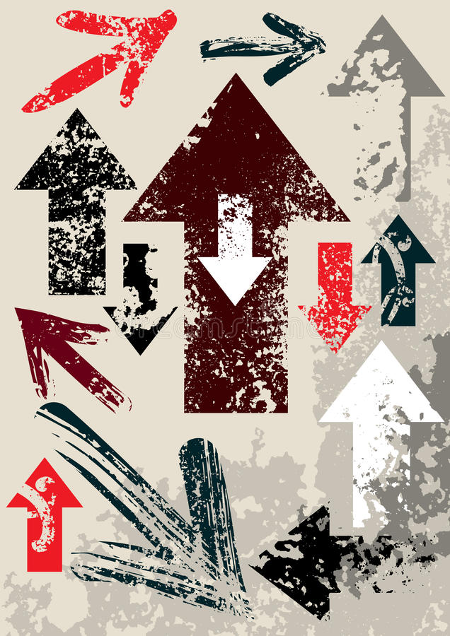 απορρίμματα βελών διανυσματική απεικόνιση