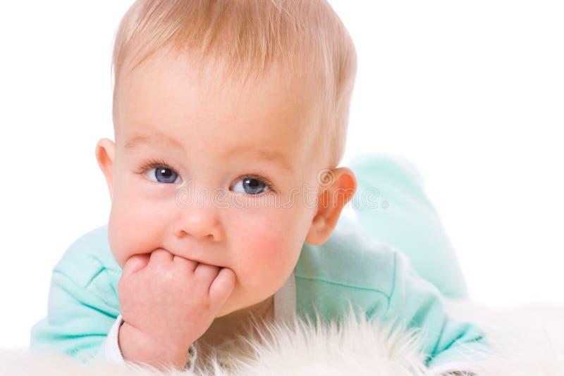 απορρόφηση δάχτυλων μωρών στοκ εικόνες με δικαίωμα ελεύθερης χρήσης