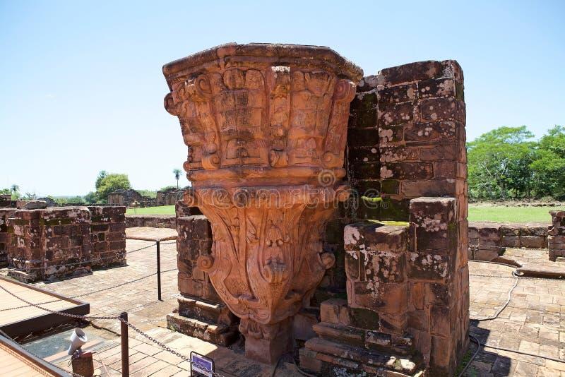 """Αποστολές Jesuit Ï""""Î¿Ï… Λα Santisima Τρινιδάδ de ParanÃ, Παραγουάη στοκ εικόνα"""