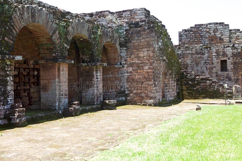 """Αποστολές Jesuit Ï""""Î¿Ï… Λα Santisima Τρινιδάδ de ParanÃ, Παραγουάη στοκ εικόνες"""
