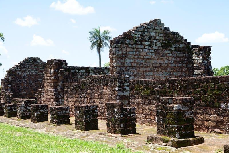 Αποστολές Jesuit του Λα Santisima Τρινιδάδ de ParanÃ, Παραγουάη στοκ εικόνα με δικαίωμα ελεύθερης χρήσης