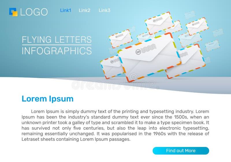 Αποστολή των ενημερωτικών δελτίων ταχυδρομείου απεικόνιση αποθεμάτων