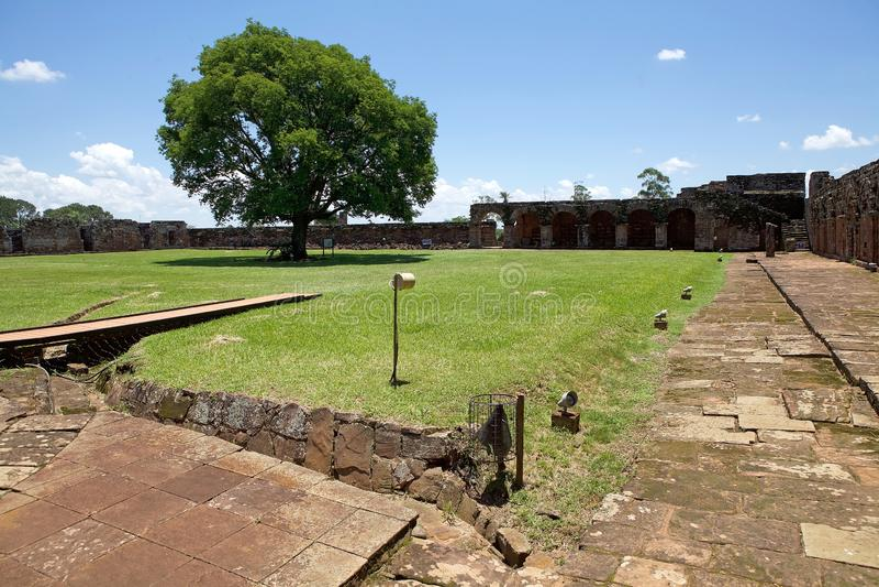 """Αποστολή Jesuit Ï""""Î¿Ï… Λα Santisima Τρινιδάδ de ParanÃ, Παραγουάη στοκ φωτογραφίες με δικαίωμα ελεύθερης χρήσης"""