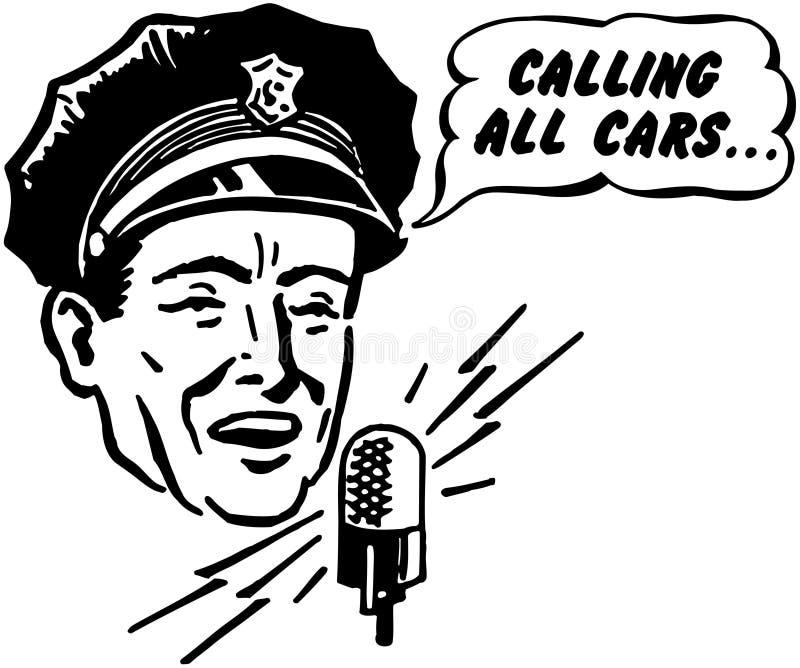 Αποστολέας αστυνομίας ελεύθερη απεικόνιση δικαιώματος