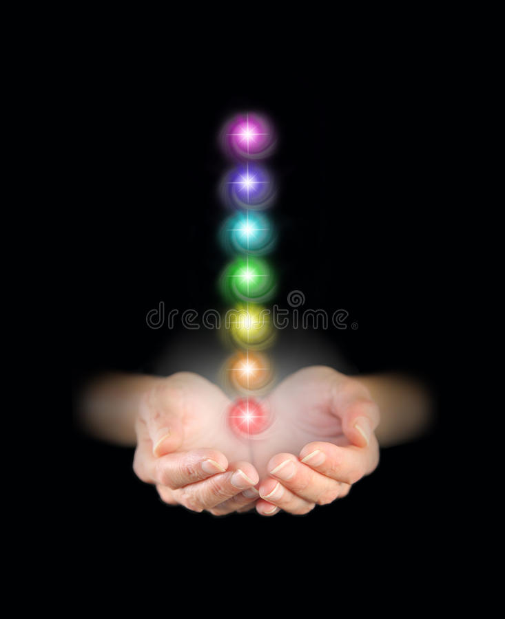 Αποστολή της θεραπεύοντας ενέργειας chakra στοκ φωτογραφία με δικαίωμα ελεύθερης χρήσης