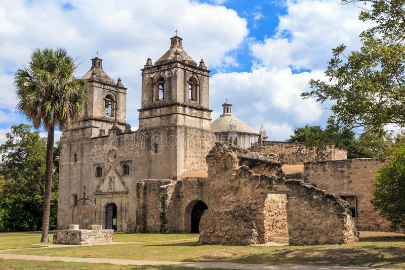 Αποστολή Concepción, San Antonio, Τέξας στοκ εικόνες με δικαίωμα ελεύθερης χρήσης