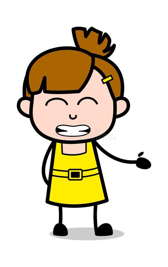 Αποστροφή - χαριτωμένη διανυσματική απεικόνιση χαρακτήρα κινουμένων σχεδίων κοριτσιών απεικόνιση αποθεμάτων
