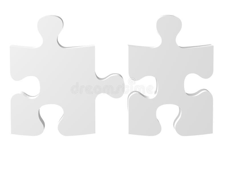 αποσυνδεμένο λευκό κομματιών διανυσματική απεικόνιση