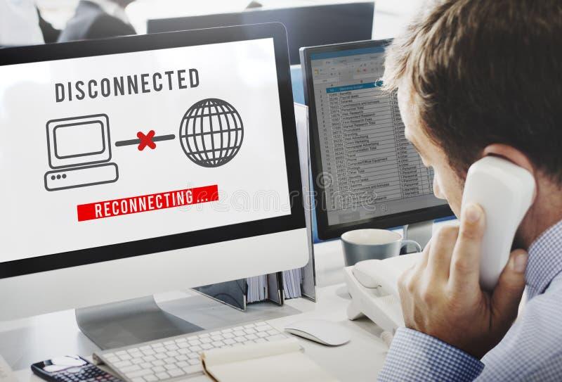 Αποσυνδεμένος αποσυνδέστε την απρόσιτη έννοια λάθους στοκ εικόνα με δικαίωμα ελεύθερης χρήσης
