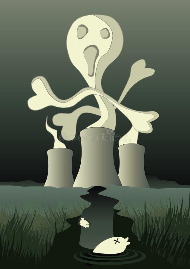 αποσύνθεση ραδιενεργός διανυσματική απεικόνιση