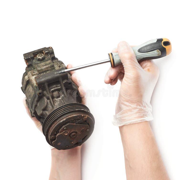 Αποσύνθεση του στοιχείου μηχανισμών μηχανών που απομονώνεται στοκ εικόνα με δικαίωμα ελεύθερης χρήσης