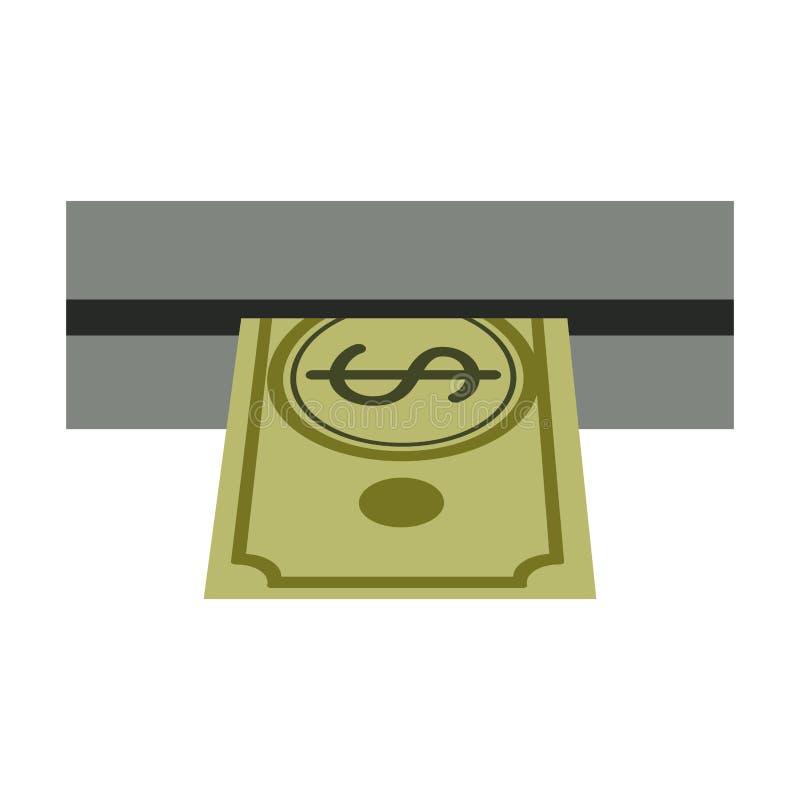 Αποσύρετε τα χρήματα από την αυλάκωση του ATM ελεύθερη απεικόνιση δικαιώματος