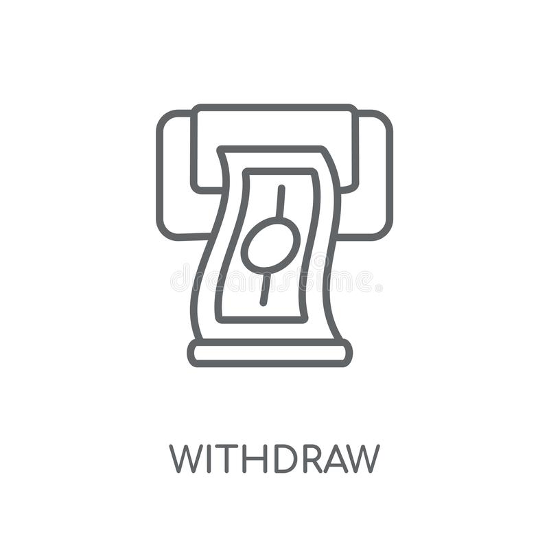 Αποσύρετε το γραμμικό εικονίδιο Η σύγχρονη περίληψη αποσύρει την έννοια λογότυπων στο wh διανυσματική απεικόνιση