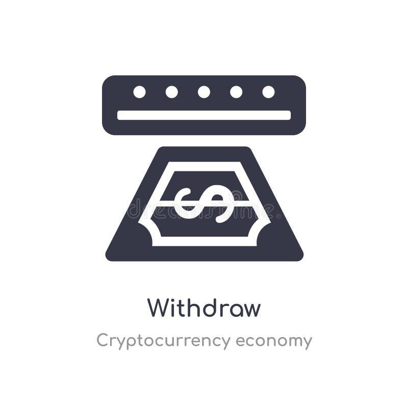 αποσύρετε το εικονίδιο απομονωμένος αποσύρετε τη διανυσματική απεικόνιση εικονιδίων από τη συλλογή οικονομίας cryptocurrency edit διανυσματική απεικόνιση