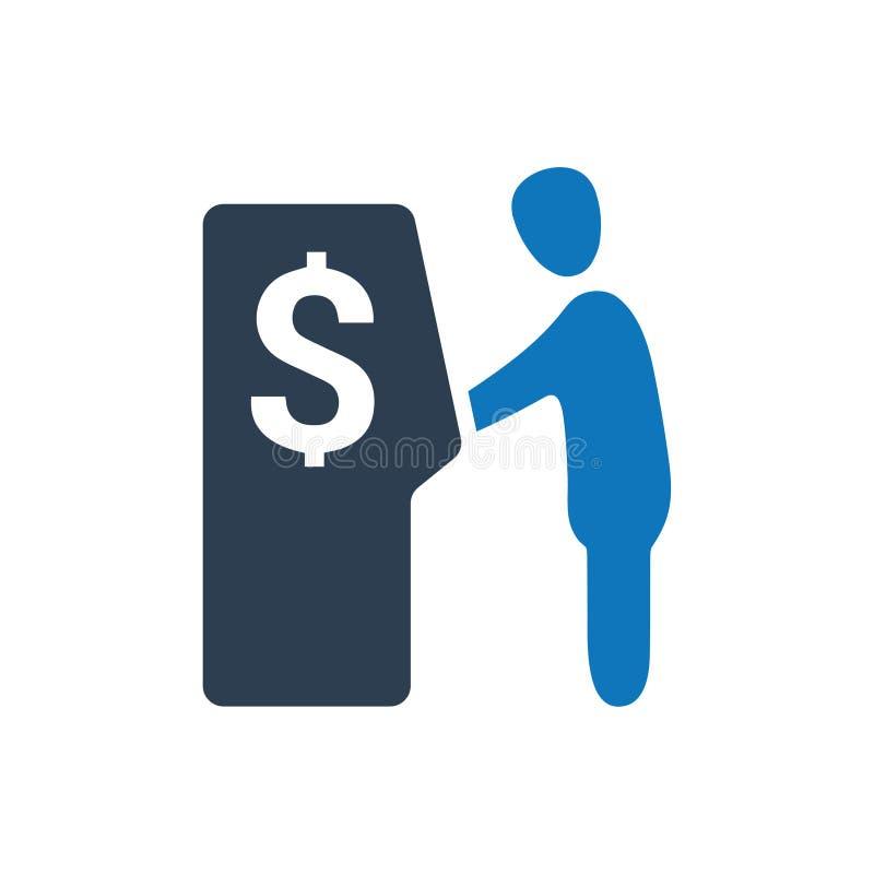 Αποσύρετε το εικονίδιο χρημάτων απεικόνιση αποθεμάτων