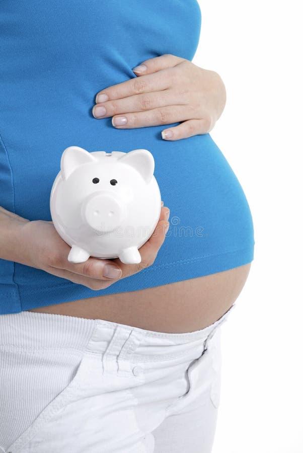 Αποταμίευση έγκυων γυναικών στοκ εικόνες