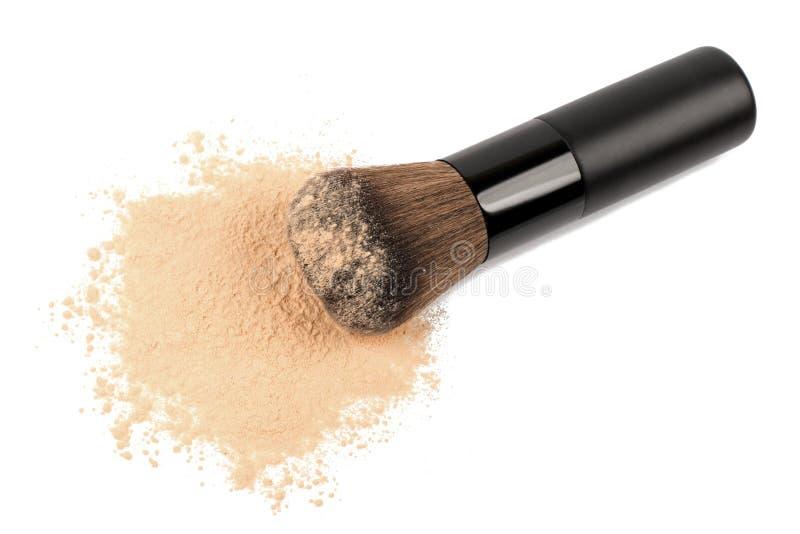 Αποτελέστε τη σκόνη με τη βούρτσα στοκ εικόνα με δικαίωμα ελεύθερης χρήσης