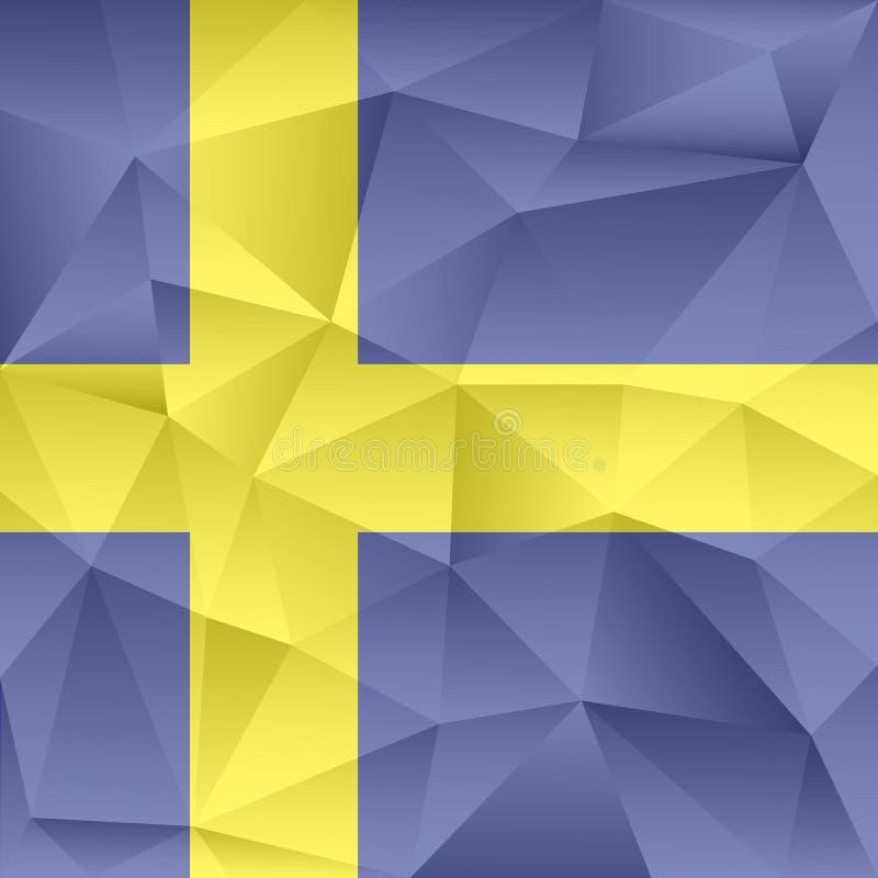 Αποτελούμενα τρίγωνα υποβάθρου της Σουηδίας αφηρημένα στοκ φωτογραφία