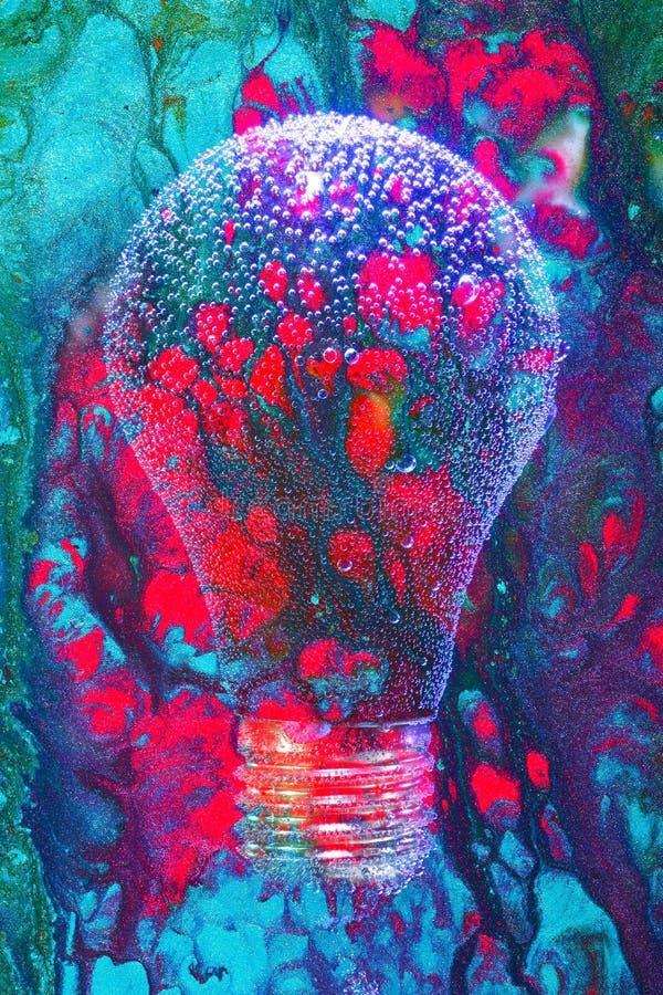 Αποτελούμενη Lightbulb περίληψη στοκ εικόνες