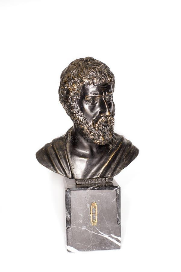 Αποτυχία του ρωμαϊκού αυτοκράτορα Marcus Aurelius σε ένα άσπρο υπόβαθρο στοκ φωτογραφίες