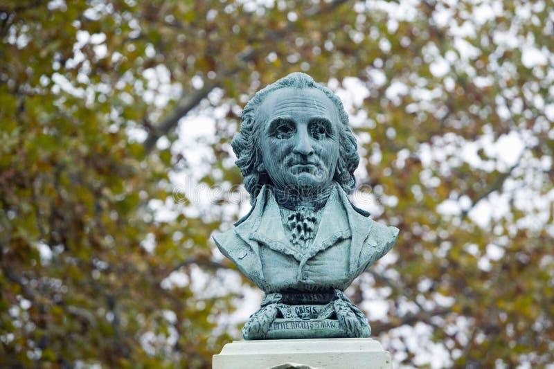 Αποτυχία του Thomas Paine επάνω στο μνημείο του στη νέα Rochelle, Νέα Υόρκη στοκ εικόνες