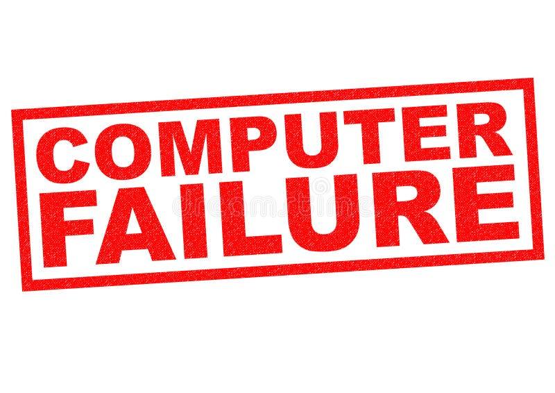 Αποτυχία υπολογιστών ελεύθερη απεικόνιση δικαιώματος