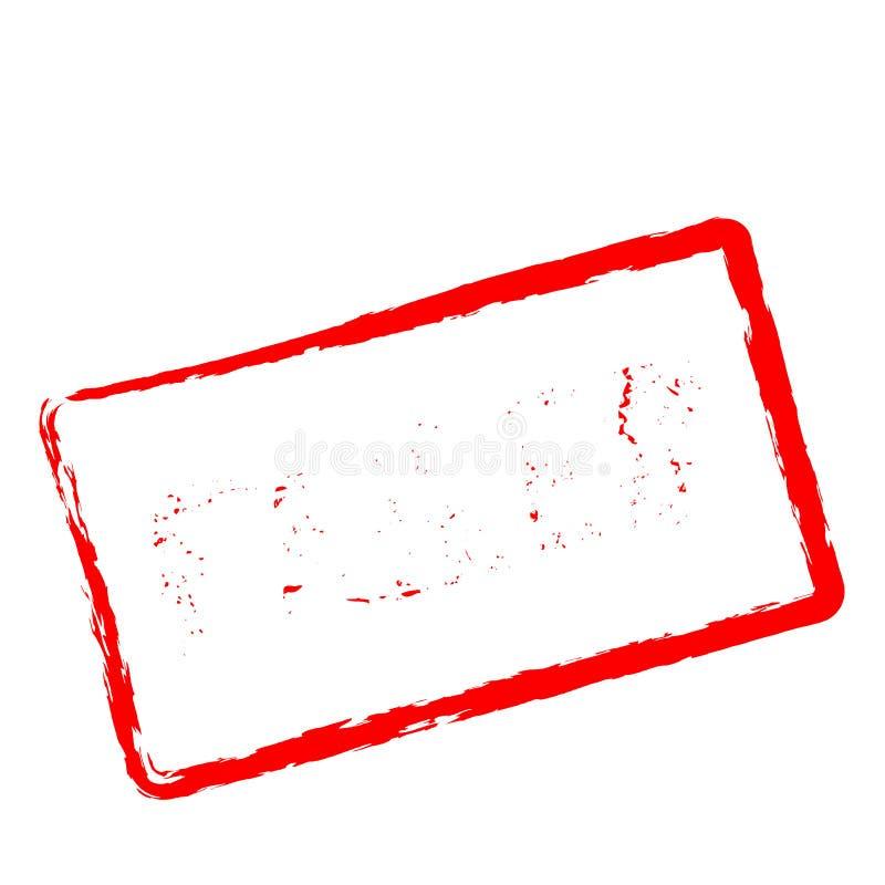 Αποτυχημένη κόκκινη σφραγίδα που απομονώνεται στο λευκό διανυσματική απεικόνιση