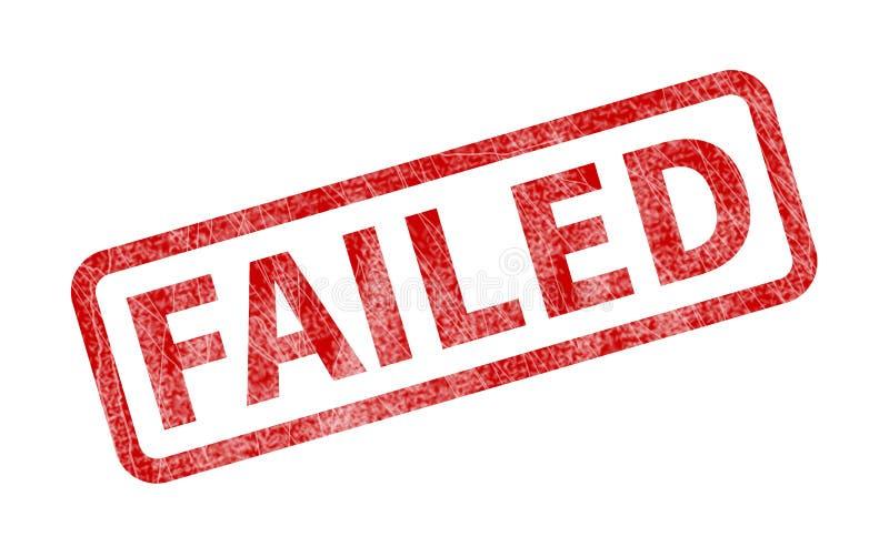 Αποτυχημένο γραμματόσημο - κόκκινη σφραγίδα Grunge ελεύθερη απεικόνιση δικαιώματος