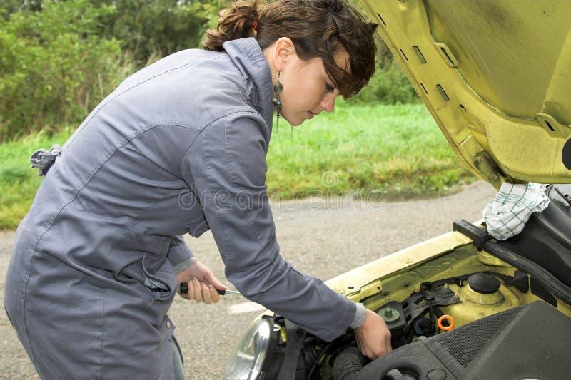 αποτύπωση αυτοκινήτων στο TRying στοκ εικόνα με δικαίωμα ελεύθερης χρήσης