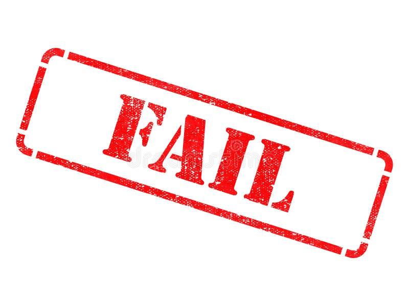 Αποτύχετε - επιγραφή στην κόκκινη σφραγίδα. στοκ φωτογραφίες με δικαίωμα ελεύθερης χρήσης