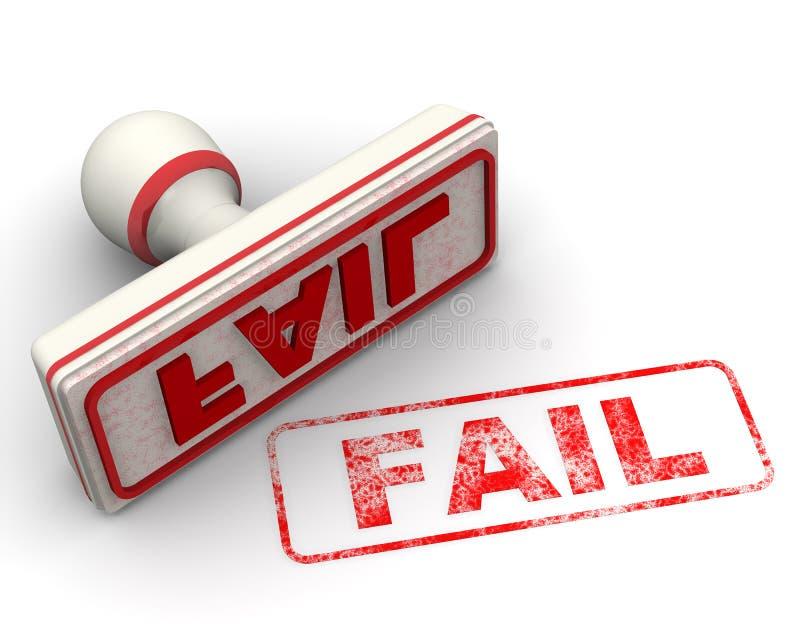 Αποτύχετε Σφραγίδα και σφραγίδα απεικόνιση αποθεμάτων