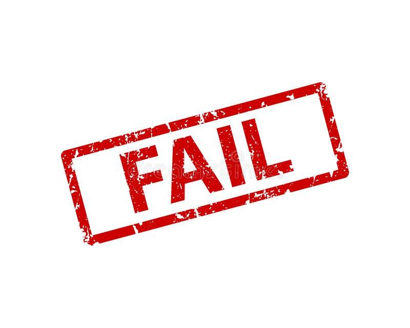 Αποτύχετε τη διανυσματική σύσταση γραμματοσήμων Λαστιχένια σφραγίδα cliche Ιστός ή στοιχείο σχεδίου τυπωμένων υλών για το σημάδι, ελεύθερη απεικόνιση δικαιώματος