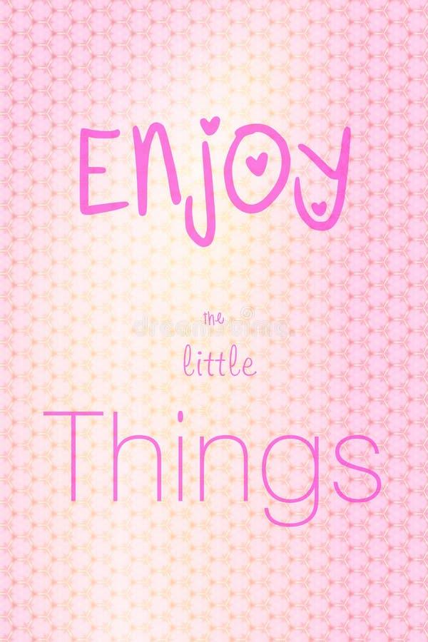 Απολαύστε τα μικρά πράγματα στοκ εικόνες με δικαίωμα ελεύθερης χρήσης