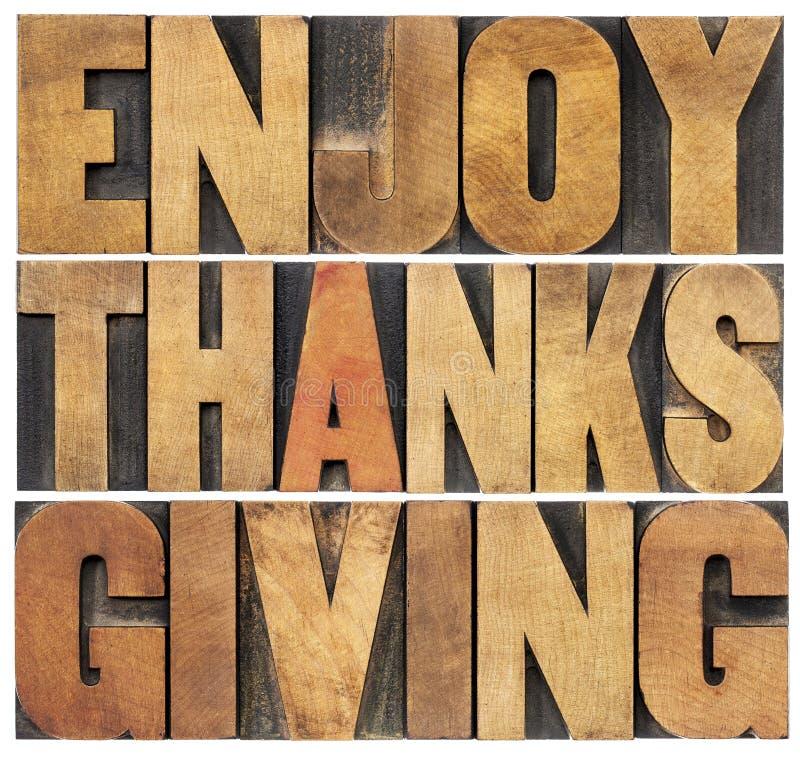 Απολαύστε την ημέρα των ευχαριστιών στοκ φωτογραφίες
