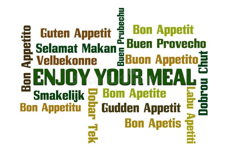 απολαύστε το γεύμα σας ελεύθερη απεικόνιση δικαιώματος