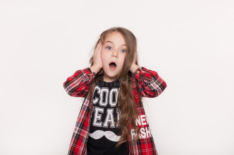 Απολύτως κατάπληκτο μικρό κορίτσι στοκ φωτογραφίες με δικαίωμα ελεύθερης χρήσης
