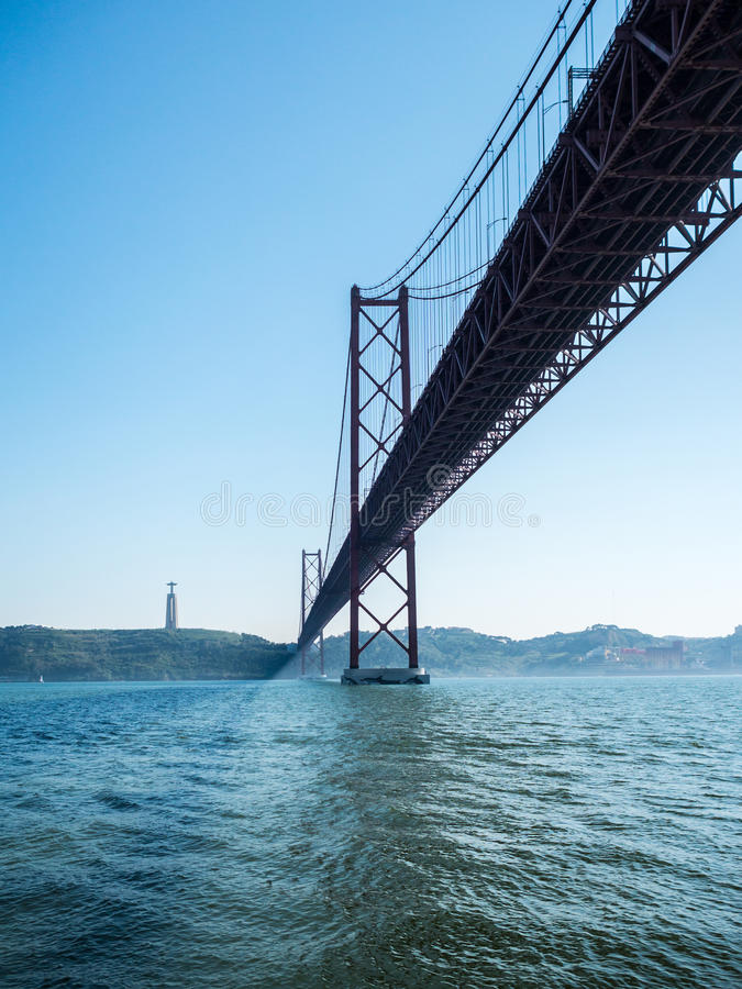 25 Απριλίου γέφυρα στοκ φωτογραφία