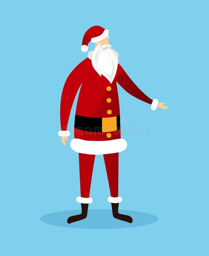Απρόσωπος Άγιος Βασίλης απομόνωσε στο μπλε υπόβαθρο απεικόνιση αποθεμάτων