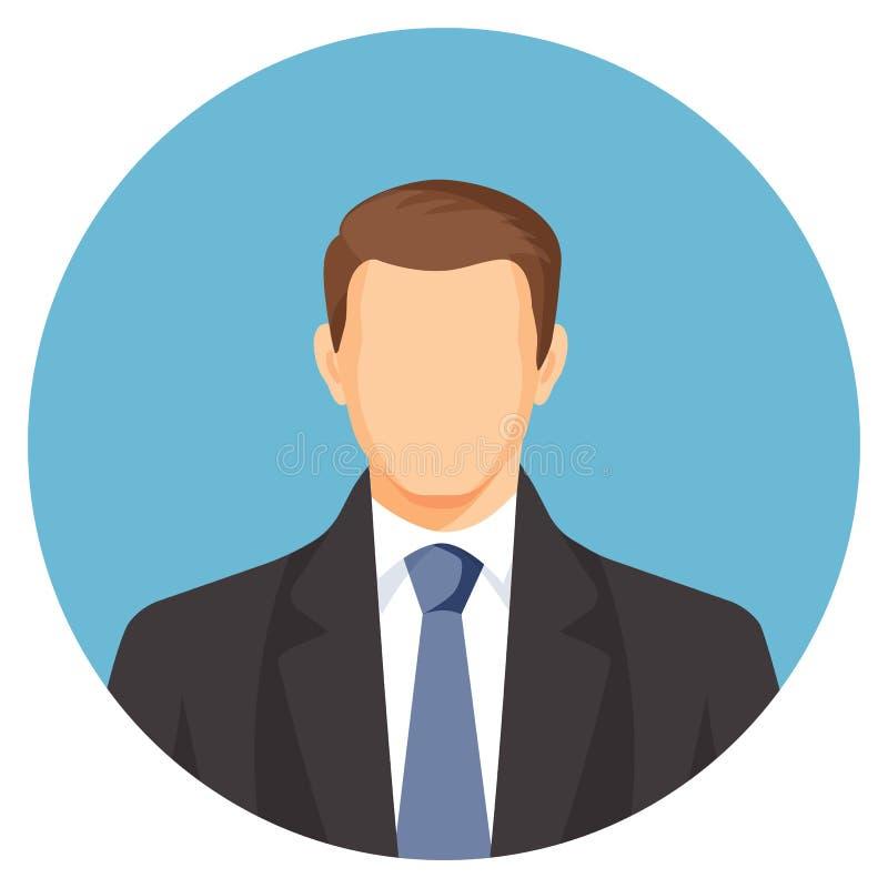 Απρόσωπο είδωλο επιχειρηματιών Άτομο στο κοστούμι με τον μπλε δεσμό ελεύθερη απεικόνιση δικαιώματος