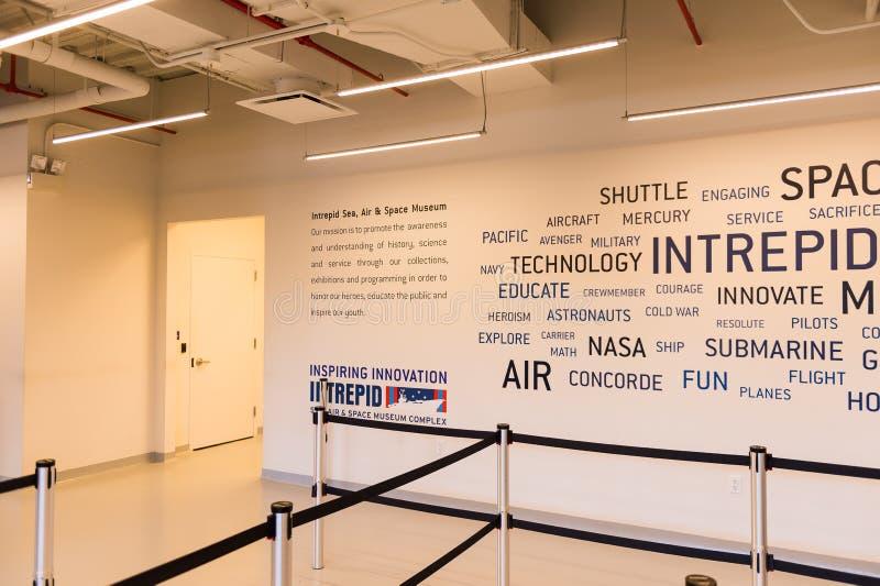 Απτόητη θάλασσα, αέρας και διαστημικό μουσείο, Νέα Υόρκη στοκ εικόνες με δικαίωμα ελεύθερης χρήσης