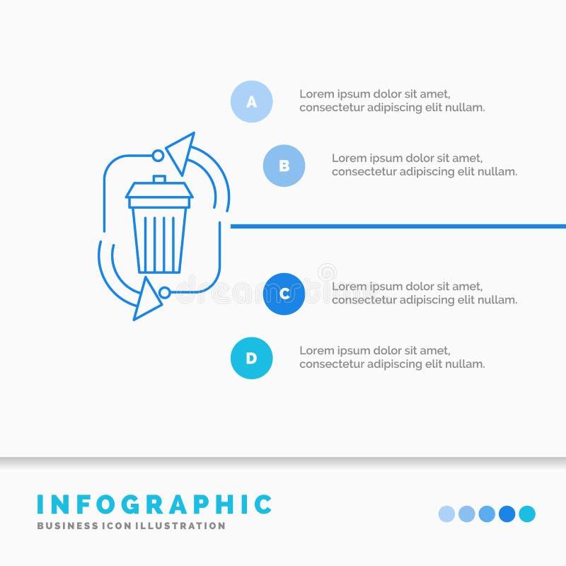 απόβλητα, διάθεση, απορρίματα, διαχείριση, ανακύκλωσης πρότυπο Infographics για τον ιστοχώρο και παρουσίαση Infographic ύφος εικο απεικόνιση αποθεμάτων