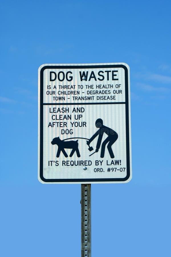 απόβλητα σημαδιών σκυλιών στοκ εικόνα με δικαίωμα ελεύθερης χρήσης