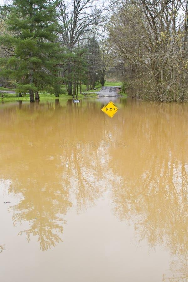 Απόγειο πλημμυρών στοκ εικόνα με δικαίωμα ελεύθερης χρήσης