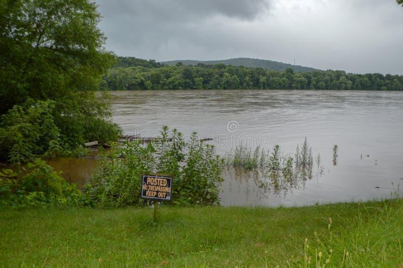 Απόγειο στον ποταμό Susquehanna στοκ εικόνες με δικαίωμα ελεύθερης χρήσης