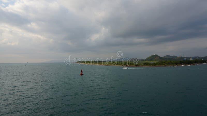 Απόγευμα στην παραλία Lembar στοκ εικόνες