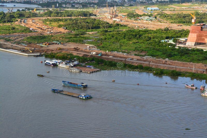 Απόγευμα στον ποταμό Saigon στοκ φωτογραφία με δικαίωμα ελεύθερης χρήσης