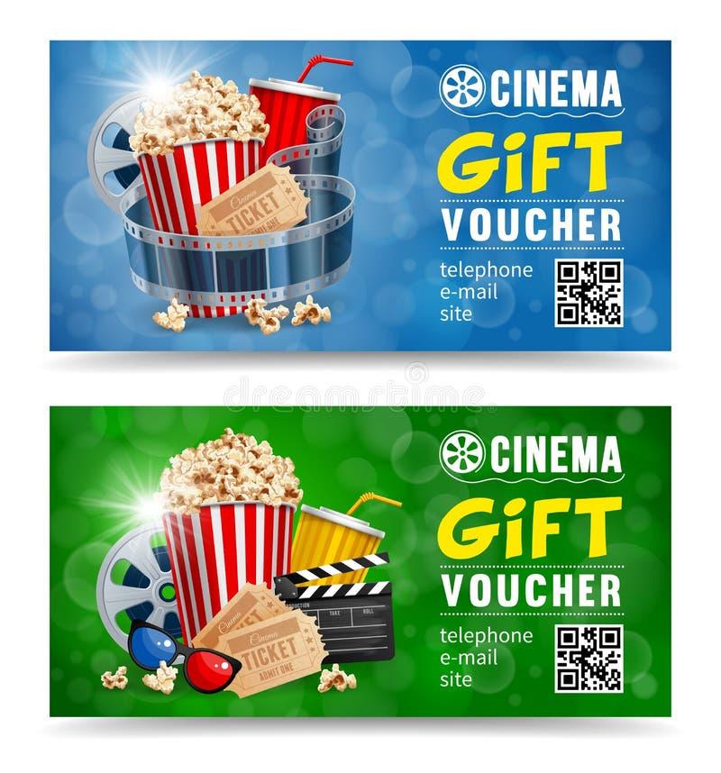 Απόδειξη δώρων κινηματογράφων απεικόνιση αποθεμάτων