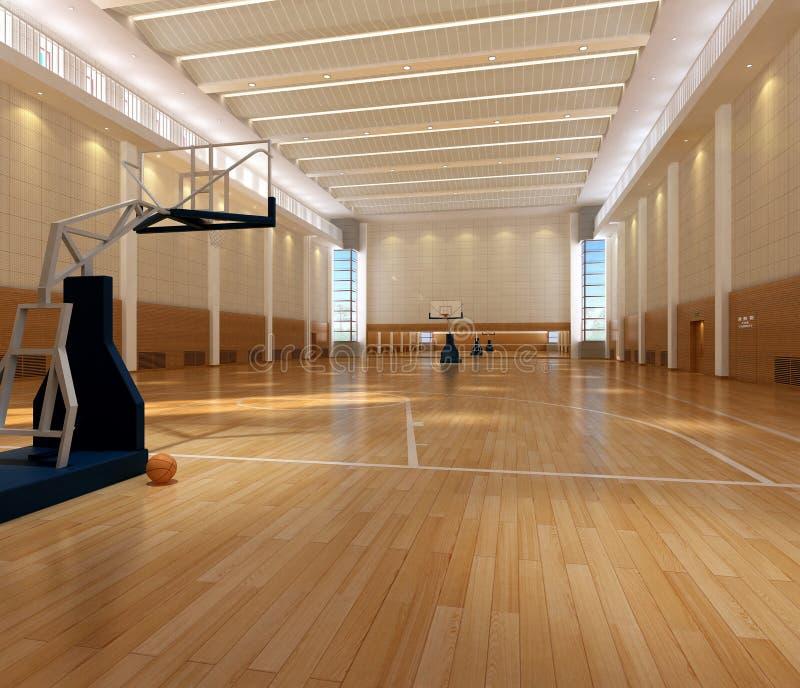 απόδοση γήπεδο μπάσκετ διανυσματική απεικόνιση