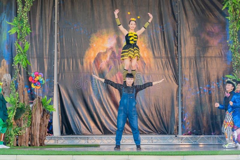 Απόδοση στο υπαίθριο θέατρο ανθών της έκθεσης παγκόσμιας χλωρίδας Taichung στοκ φωτογραφία με δικαίωμα ελεύθερης χρήσης